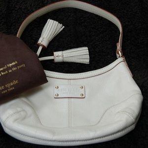 Cream Kate Spade Tassel Bag